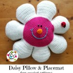 Free Pattern: Daisy Pillow and Placemat