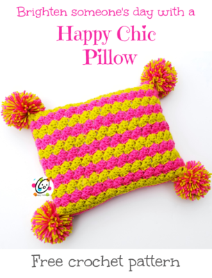 Free Pattern: Happy Chic Pillow