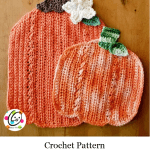 Crochet Hanging Pumpkin Cloth Set