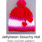 Free Pattern: Jellybean Slouch Hat