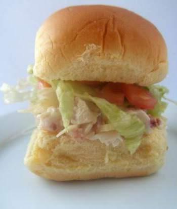 Ranch Chicken Club Salad Sliders