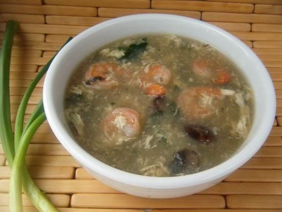 Shrimp & Veggie Egg Drop Soup Recipe   SnappyGourmet.com