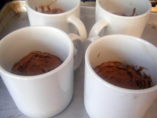 Raspberry Chocolate-Chocolate Chip Mug Brownie Cakes Recipe | SnappyGourmet.com