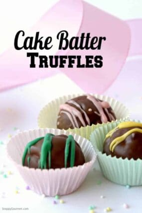 Cake Batter Truffles Recipe - how to make cake batter candy from scratch