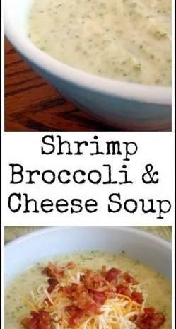 Shrimp Broccoli & Cheese Soup Recipe