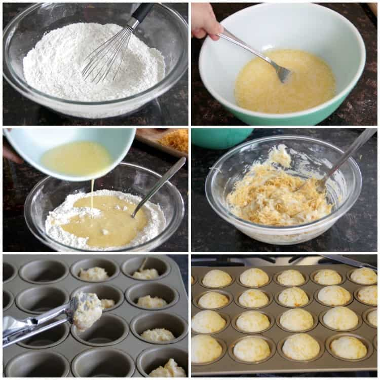 steps of making muffins