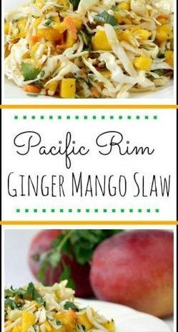 Pacific Rim Ginger Mango Slaw