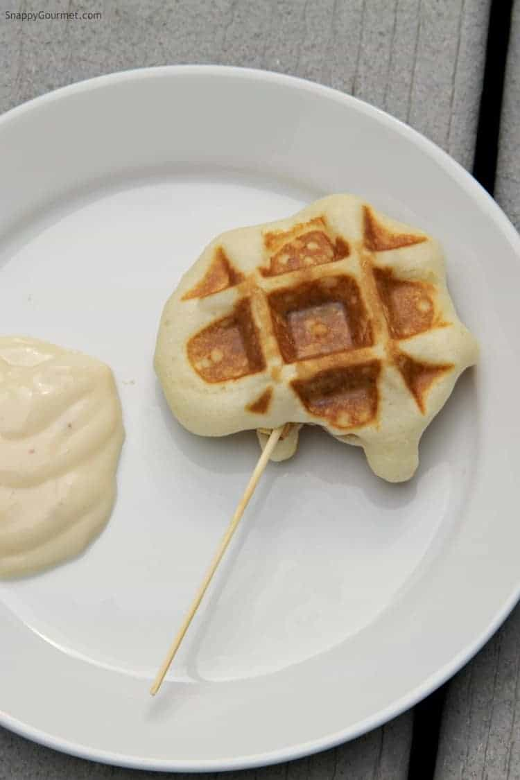 Chicken Stuffed Waffle Pops recipe - chicken and waffles in one bite