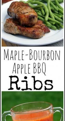 Maple-Bourbon Apple Barbecue Ribs