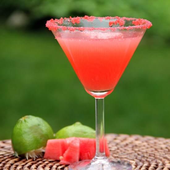 Watermelon Poptini Cocktail Recipe | SnappyGourmet.com