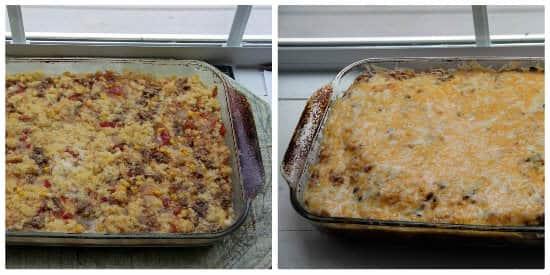 Mexican Sausage & Cornbread Strata (overnight breakfast casserole)   snappygourmet.com