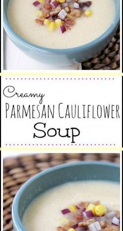 Creamy Parmesan Cauliflower Soup