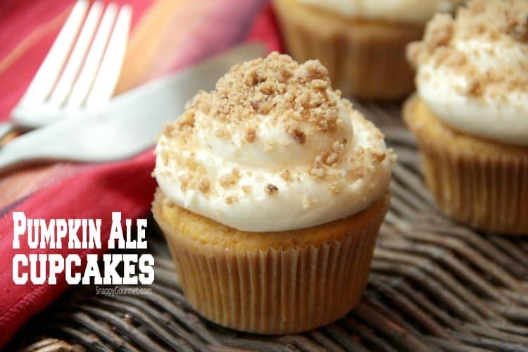 Pumpkin Ale Cupcakes - gourmet cupcakes with a cake mix