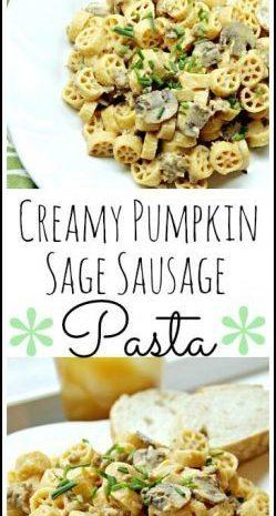 Creamy Pumpkin Sage Sausage Pasta