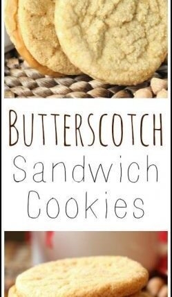 Butterscotch Sandwich Cookies recipe - easy homemade holiday and Christmas cookie   SnappyGourmet.com