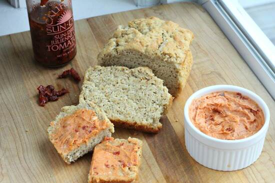 Italian Beer Bread & Sundried Tomato Butter Recipe | SnappyGourmet.com