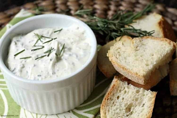 feta spread in bowl