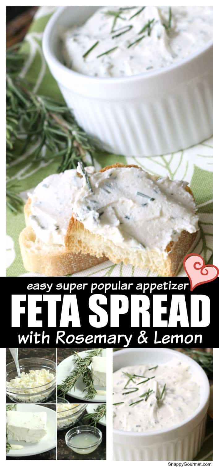 feta spread collage