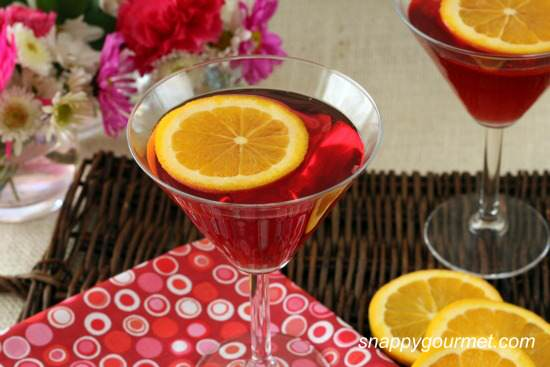 Ruby Slipper Springtini Cocktail Recipe   SnappyGourmet.com