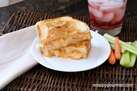 Buffalo Shrimp Grilled Cheese Sandwich Recipe | SnappyGourmet.com