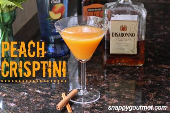 Peach Crisptini Cocktail Recipe | SnappyGourmet.com