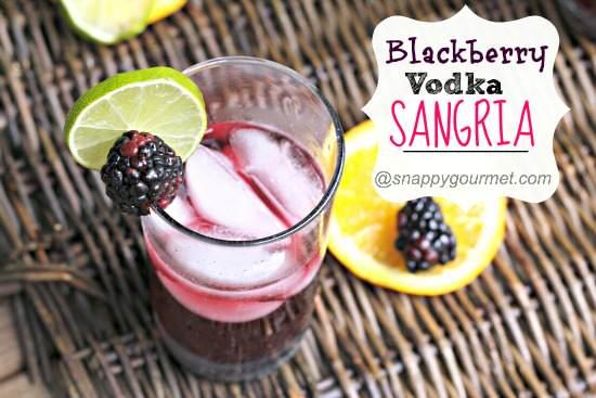 Blackberry Vodka Sangria Recipe   SnappyGourmet