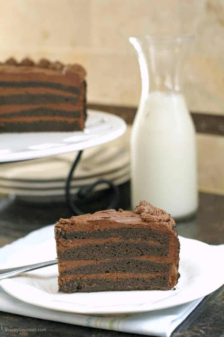 Homemade Birthday Chocolate Brownie Cake Recipe - an easy brownie layer cake
