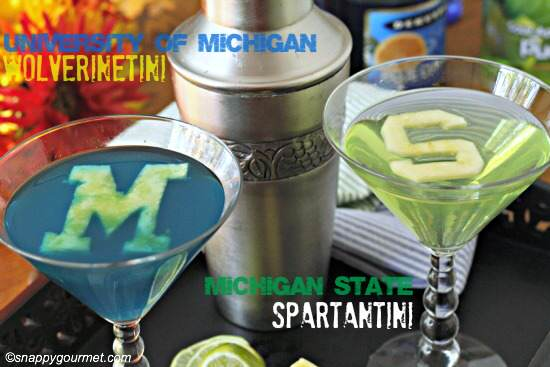 College Cocktails: Worlverinetini & Spartantini Recipes   SnappyGourmet.com