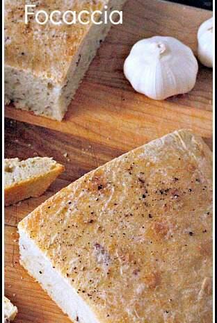 Garlic Red Mashed Potato Focaccia