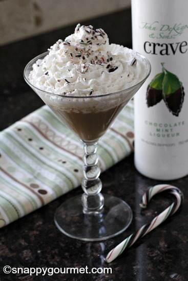 Chocolate Mint Russian Caketini Recipe   SnappyGourmet.com