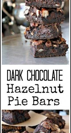 Dark Chocolate Hazelnut Pie Bars