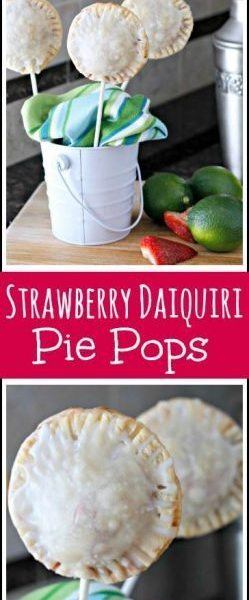 Strawberry Daiquiri Pie Pops Recipe - fun summer dessert on a stick! SnappyGourmet.com