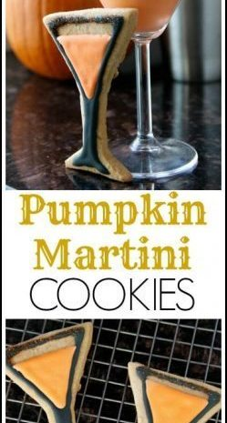 Pumpkin Martini Cookies Recipe - easy cookie recipe great for fall! SnappyGourmet.com