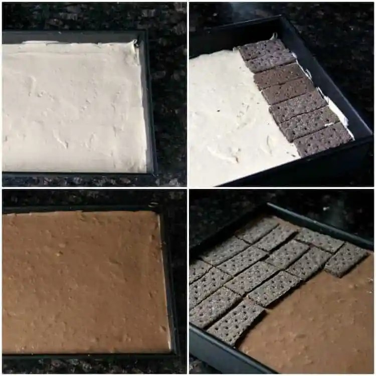 No Bake Chocolate Peanut Butter Lasagna - easy chocolate lasagna dessert recipe. SnappyGourmet.com