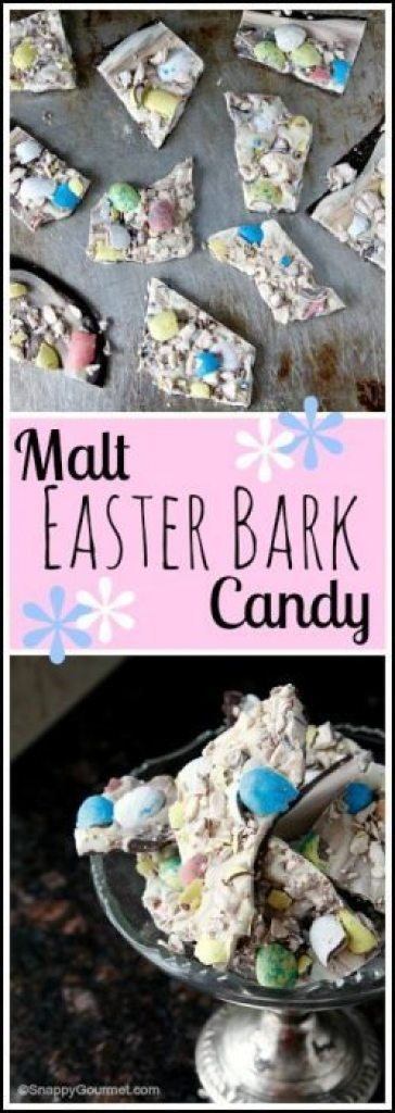 Malt Easter Bark Candy - easy candy recipe great for spring! SnappyGourmet.com
