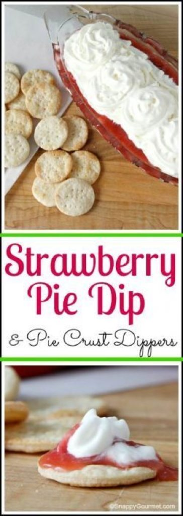 Easy Strawberry Pie Dip & Pie Crust Dippers Recipe | SnappyGourmet.com