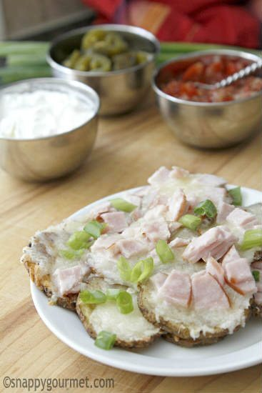 Cheesey Canadian Bacon Irish Nachos Recipe | snappygourmet.com