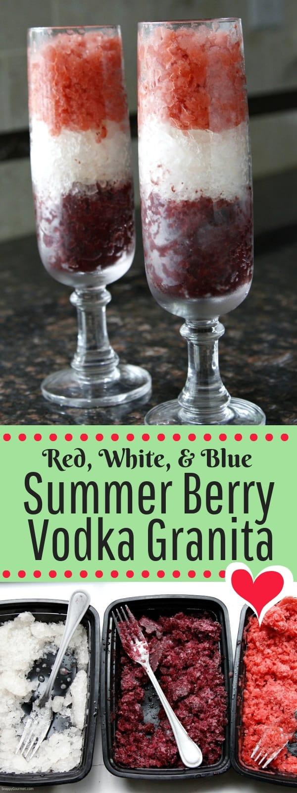 Vodka Granita photo collage