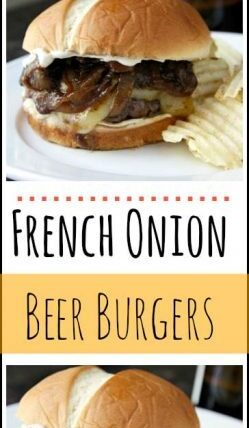 French Onion Beer Burgers Recipe - Easy homemade gourmet burger | SnappyGourmet.com