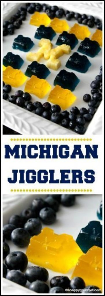 University of Michigan Jigglers Recipe - easy game day food. Go Blue! SnappyGourmet.com