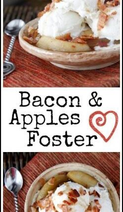 Bacon & Apples Foster Recipe - easy twist on Bananas Foster | SnappyGourmet.com