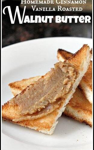 Homemade Cinnamon Vanilla Roasted Walnut Butter Recipe - easy DIY walnut butter | SnappyGourmet.com