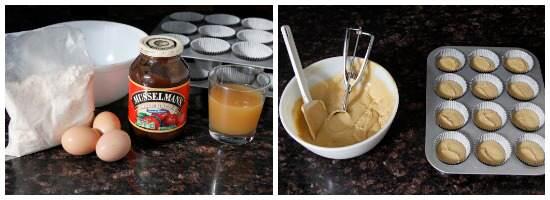 Caramel Apple Butter Cupcakes Recipe (batter) | snappygourmet.com
