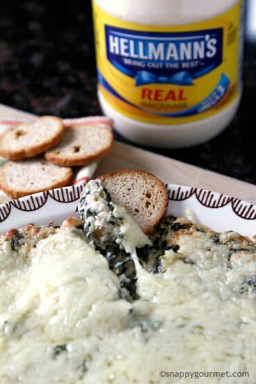Hot Onion Spinach Dip Recipe | snappygourmet.com