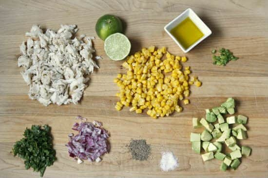 Corn and Crab Salad Tortilla Cups Appetizer Recipe (ingredients) | snappygourmet.com