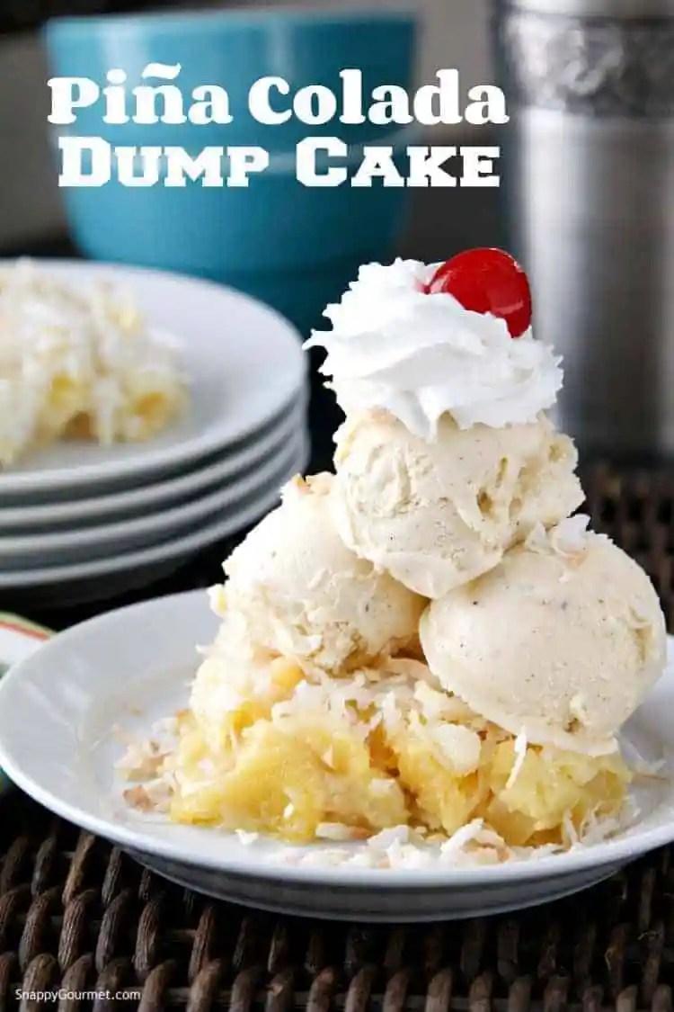 Pia Colada Dump Cake Recipe Pineapple Dump Cake Snappy Gourmet