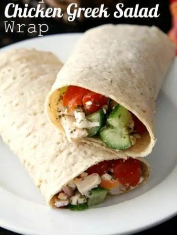 Easy Chicken Greek Salad Wrap Sandwich