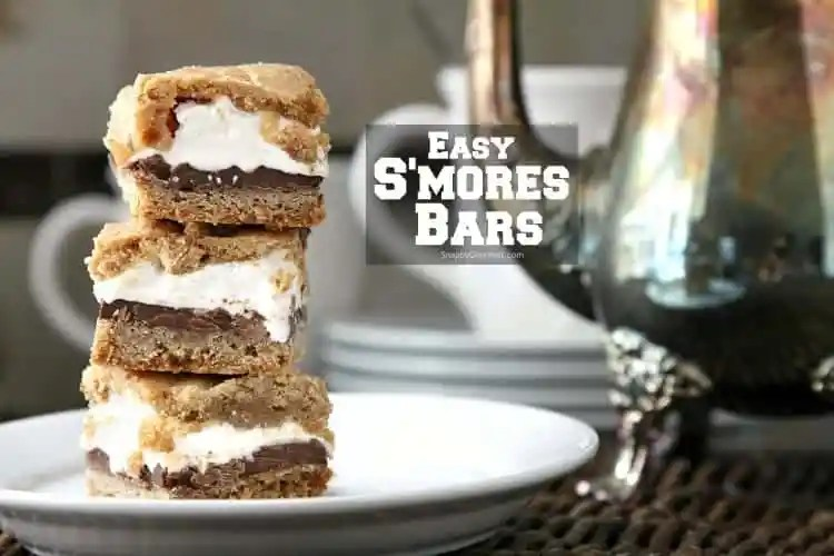 S'mores Bars - DIY s'more bar recipe that is perfect for National S'mores Day, potlucks, and summer BBQs.
