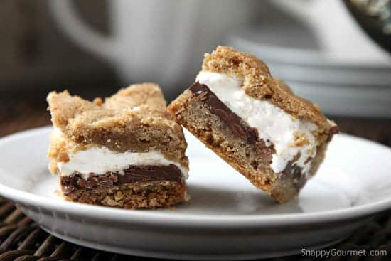 Easy S'mores Bars Cookie Recipe | SnappyGourmet.com