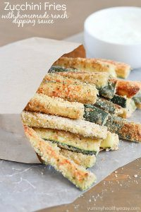 70+ Best Zucchini Recipes (Baked Zucchini Fries with Ranch Dipping Sauce Recipe)   SnappyGourmet.com